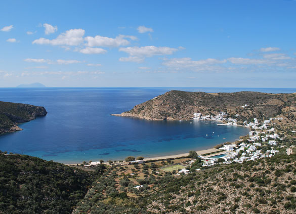 The bay of Vathi in Sifnos